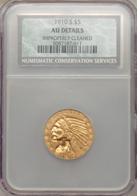 1910-S $5 -- Improperly Cleaned -- NCS. AU Details. NGC Census: (42/1310). PCGS Population (77/680). Mintage: 770,200. N...