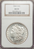 1884-S $1 AU55 NGC. NGC Census: (1547/2053). PCGS Population (1496/1130). Mintage: 3,200,000. Numismedia Wsl. Price for...