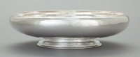 A CLEMENS FRIEDELL SILVER FOOTED CENTER BOWL Clemens Friedell, Pasadena, California, circa 1930 Marks: CLEME