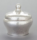 Silver Holloware, American, A CHARLES SELVAGE SILVER COVERED CANISTER. Charles Selvage,Massachusetts, mid-20th century. Marks: S.E. SELVAGE,HANDWROU...