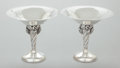 Silver Holloware, American, A PAIR OF WILLIAM DE MATTEO SILVER COMPOTES . William de Matteo, Bergenfeld, New Jersey, circa 1950. Marks: (D within circle... (Total: 2 Items)