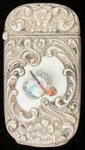 Silver Smalls:Match Safes, A REEVES & SILLCOCKS SILVER, SILVER GILT AND ENAMEL MATCH SAFE. Reeves & Sillcocks, New York, New York, circa 1900. Marks:...