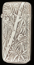 Silver Smalls:Match Safes, A SHIEBLER SILVER MATCH SAFE . George W. Shiebler & Co., NewYork, New York, circa 1900. Marks: (winged S), STERLING.2-...