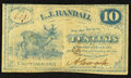 Obsoletes By State:Ohio, Chardon, OH- A(lphant) Cook at L.J. Randall 10¢ 1862 Wolka 0317-02....