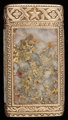 A SHREVE 14K GOLD AND GOLD QUARTZ MATCH SAFE Shreve & Co., San Francisco, California, 1873 2-1/4 inches high (5...