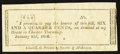 Obsoletes By State:Ohio, Chester Township, OH- Unknown Issuer 6-1/4¢ Jan. 22, 1816 RemainderWolka 0334-01. ...