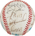 Autographs:Baseballs, Circa 1995 New York Yankees Team Signed Baseball. ...
