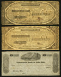 Obsoletes By State:Ohio, Cleveland, OH- The Commercial Bank of Lake Erie $ Fill In;Counterfeit $2 (2) 1833-37 UNL; C34(2) Wolka 0720-02; 0720-10(2)... (Total: 3 notes)