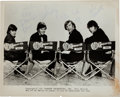 Music Memorabilia:Autographs and Signed Items, Monkees Signed Black and White Photograph, Circa 1967....