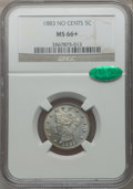 Liberty Nickels: , 1883 5C No Cents MS66+ NGC. CAC. NGC Census: (473/63). PCGSPopulation (372/20). Mintage: 5,479,519. Numismedia Wsl. Price ...