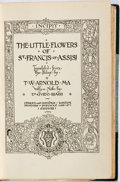 Books:Fine Bindings & Library Sets, [Riviere Binding]. The Little Flowers of St. Francis ofAssisi. London: Chatto and Windus, 1908. Contemporary half t...