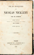Books:Fine Bindings & Library Sets, Charles Dickens. Vie et Aventures de Nicolas Nickleby. Paris: Hachette, 1866. Volume 2 only. Contemporary green moro...