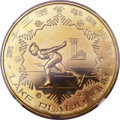 China:People's Republic of China, China: People's Republic of China. Winter Olympics Four-piece Proof Piefort brass 1 Yuan Set 1980,... (Total: 4 coins)