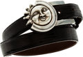 Luxury Accessories:Accessories, Kieselstein Cord Silver Sun Buckle Belt with Black Lizard &Brown Lizard Straps. ...