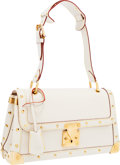 Luxury Accessories:Bags, Louis Vuitton White Suhali Leather Le Talenteux Shoulder Bag . ...