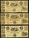 Obsoletes By State:Ohio, Columbus, OH- The Clinton Bank of Columbus Counterfeit $5 (3)1848-50 C8 (3) Wolka 0855-07 (3). ... (Total: 3 notes)