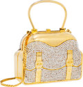 Luxury Accessories:Bags, Judith Leiber Full Bead Gold Crystal Purse Minaudiere Evening Bag ....