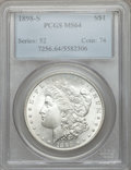 Morgan Dollars: , 1898-S $1 MS64 PCGS. PCGS Population (1149/485). NGC Census:(610/117). Mintage: 4,102,000. Numismedia Wsl. Price for probl...
