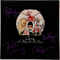 Music Memorabilia:Autographs and Signed Items, Queen Band Signed A Day at The Races (Electra 6E-101,1977)....