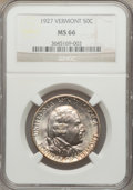 Commemorative Silver: , 1927 50C Vermont MS66 NGC. NGC Census: (199/19). PCGS Population(329/29). Mintage: 28,142. Numismedia Wsl. Price for probl...