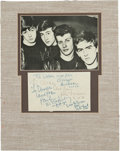 Music Memorabilia:Autographs and Signed Items, Beatles Early Signatures on Album Page with Original Drummer PeteBest (circa 1962). ...