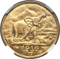 German East Africa, German East Africa: German Colony gold 15 Rupien 1916-T,...