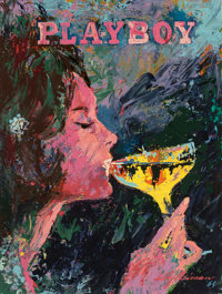 LEROY NEIMAN (American, 1921-2012) Bunny Sipping Champagne, Playboy, 1964 Oil on masonite 30 x 22