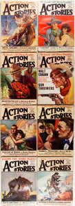 Books:Science Fiction & Fantasy, Eight Issues of Action Stories. New York: Fiction House, [1924, 1930]. Seven Issues from 1924, and one from 1930. Pu... (Total: 8 Items)