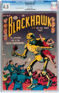 Golden Age (1938-1955):War, Blackhawk #42 (Quality, 1951) CGC VG+ 4.5 White pages....