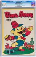 Golden Age (1938-1955):Funny Animal, Ding Dong #2 (Compix/Magazine Enterprises, 1946) CGC VF+ 8.5Off-white to white pages....