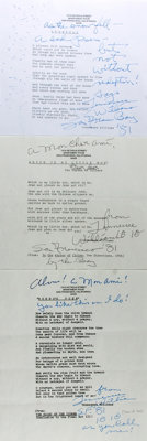 Tennessee Williams (1911-1983, American playwright) Typed Poems Signed. Three typed poems, all dated 1981. Poems are