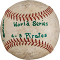 Autographs:Baseballs, 1960 Pittsburgh Pirates Team Signed Baseball. ...