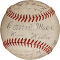 Autographs:Baseballs, 1944 Philadelphia Athletics Team Signed Baseball. ...