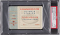 Miscellaneous Collectibles:General, 1936 Berlin Summer Olympics Ticket Stub, Jesse Owens Advances,PSA/DNA EX-MT 6....