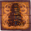 "Luxury Accessories:Accessories, Hermes 90cm Purple & Orange ""Les Rivieres de Babel,"" by AnnieFaivre Silk Scarf. ..."