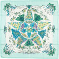 "Luxury Accessories:Accessories, Hermes 90cm Green & Blue ""Pythagore,"" by Zoe Pauwels SilkScarf. ..."