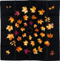 "Luxury Accessories:Accessories, Hermes 90cm Black & Gold ""A Walk In the Park,"" by Leigh P.Cooke Silk Scarf. ..."