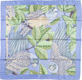 "Luxury Accessories:Accessories, Hermes 90cm Blue & Green ""Les Perroquets,"" by Joachim Metz Silk Scarf. ..."