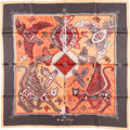 "Luxury Accessories:Accessories, Hermes 90cm Red & Orange ""Legende Kuna Peuple de Panama,"" byZoé Pauwels Silk Scarf. ..."