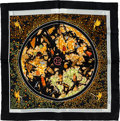"Luxury Accessories:Accessories, Hermes 40cm Black & Gold ""www.hermes.com,"" by Christine HenrySilk Pochette Scarf. ..."