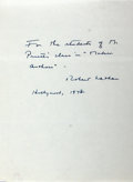 Autographs:Authors, Robert Nathan (1894-1985, American novelist) Autograph LetterSigned. 1973. Measures 6 x 8 inches. Two horizontal creases. V...
