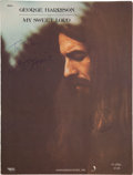 "Music Memorabilia:Autographs and Signed Items, George Harrison Signed Sheet Music for ""My Sweet Lord"" (1970)...."