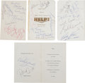 Music Memorabilia:Autographs and Signed Items, Beatles, Brian Epstein, Neil Aspinall, and Others SignedHelp! Royal World Premiere Supper Party Menu (London, 196...