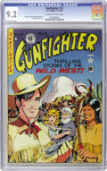 Golden Age (1938-1955):Western, Gunfighter #12 (EC, 1949) CGC NM- 9.2 Off-white to white pages. Just three issues later the title became The Haunt of Fear...