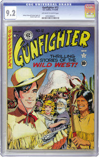 Gunfighter #12 (EC, 1949) CGC NM- 9.2 Off-white to white pages. Just three issues later the title became The Haunt of Fe...