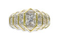 Estate Jewelry:Rings, Diamond, Gold Ring, Quadrillion. The ring features a radiant-cut diamond measuring 6.20 x 5.30 x 4.70 mm and weighs approx...