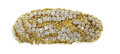 Estate Jewelry:Bracelets, Diamond, Gold Bracelet. The soft bangle features full-cut diamondsweighing a total of approximately 13.00 carats, set in ...