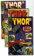 Silver Age (1956-1969):Superhero, Thor Group (Marvel, 1967-69) Condition: Average VF+. Jack Kirby handled the art for every one of these issues. Included here... (Total: 5 Comic Books)