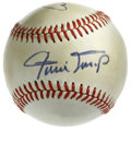 Autographs:Baseballs, Baseball Stars Multi-Signed Baseball. Official American League(MacPhail) baseball that we see here has been graced by the...