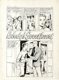 "Original Comic Art:Complete Story, Matt Baker and Vince Colletta (attributed) - First Love #89Complete 5-page Story ""Nobody's Sweetheart"" Original Art (Harvey,... (Total: 5)"